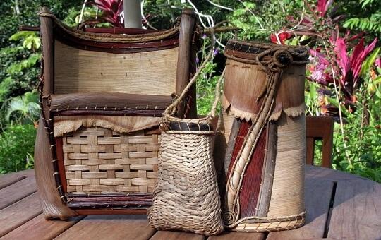 Create a Magazine Holder, Umbrella Stand, Purse | Tropical Palm Art