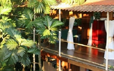 Jazzy's River House Playa Dominical Cabina Vacation Rental at Sunset